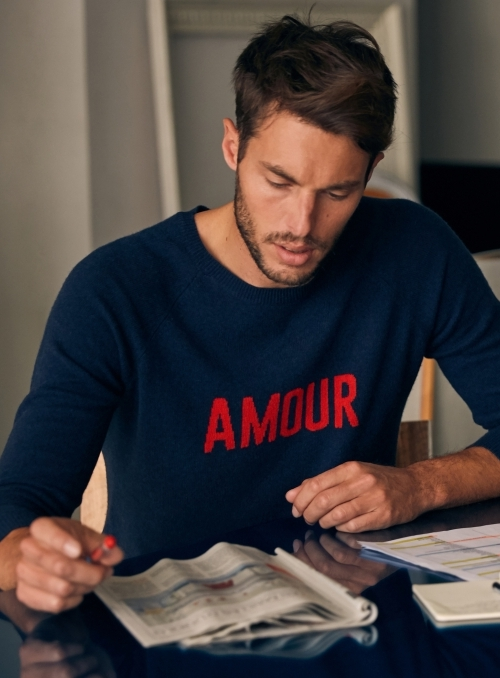 Pull Col Rond Ml Amour 100%cashmere Gg12