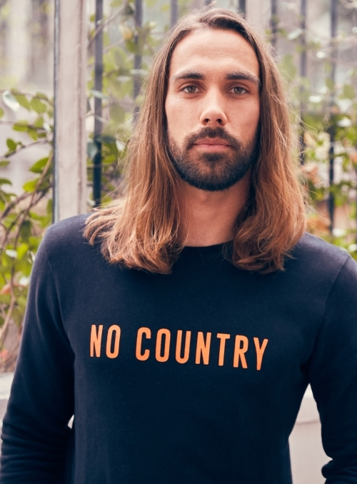 Pull Col Rond No Country 100%co