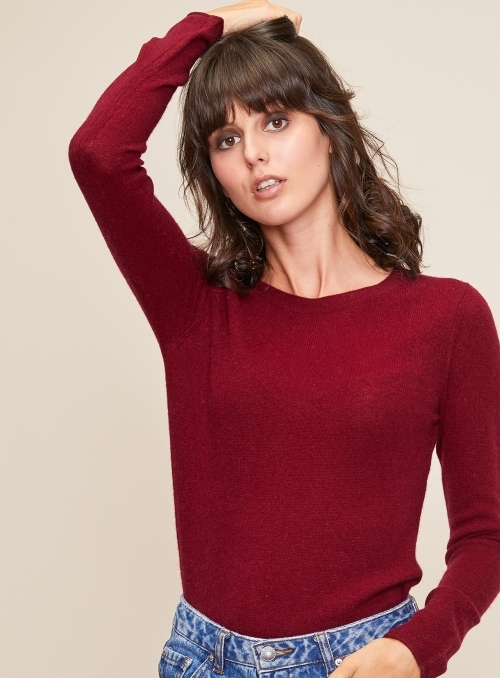Pull en cachemire col rond