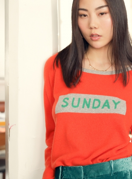 Pull Col Rond Ml Sunday 100%cashmere Gg12